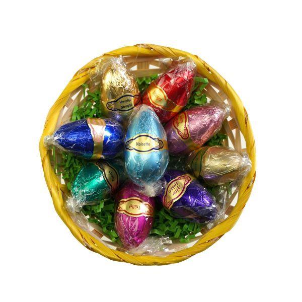 Dessert-Eier 9 Stück in einem Körbchen