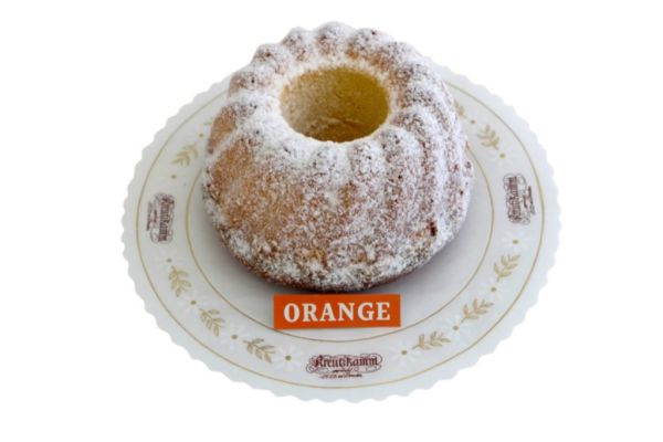 Orangengugelhupf 350g, gestaubt