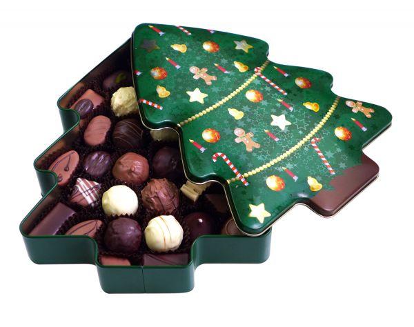 """Pralinenmischung """"Weihnachten"""" 350 g in der Geschenkdose"""